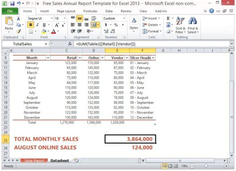 sle of annual report of a company free sales annual report template for excel 2013