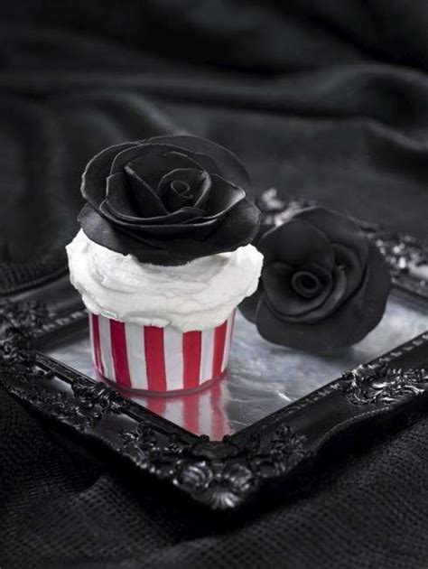 easy diy gothic gifts teacup cupcake molds wedding cake black roses and wedding cakes