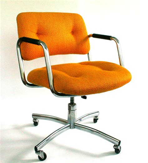 Vintage Office Chairs by Vintage Office Desk Chair Mid Century Upholstered Mustard