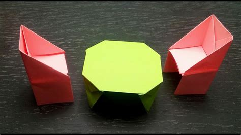 Paper Things - how to make a paper table origami things