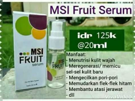 Berapa Msi Fruit Serum fruit serum msi serum vit c dr oz kecilkan pori pori