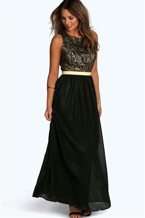 boutique lia lace metallic maxi dress at boohoo