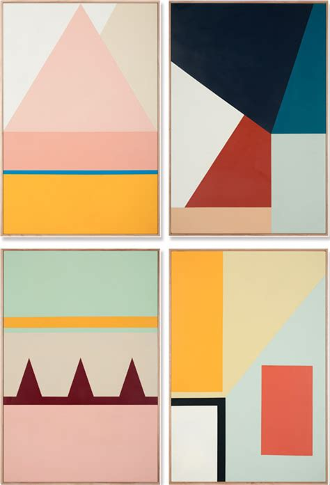 Topi Shape Simple Design paintings by esther stewart such great color and pattern