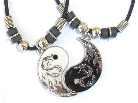 new best friend yin yang 2 pendants necklace set