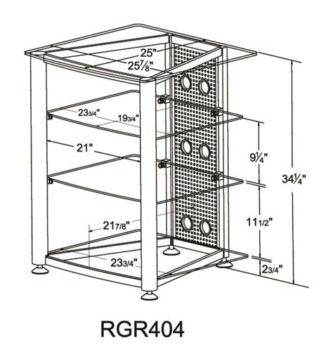 Audio Rack Dimensions Rgr404 Audio Rack Vti Manufacturing