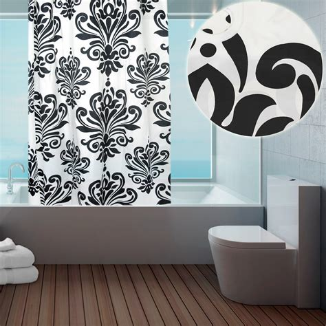 modern fabric shower curtains modern fabric hookless ring top shower curtain for