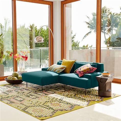 west elm beckham sofa beckham 2 piece chaise sectional west elm