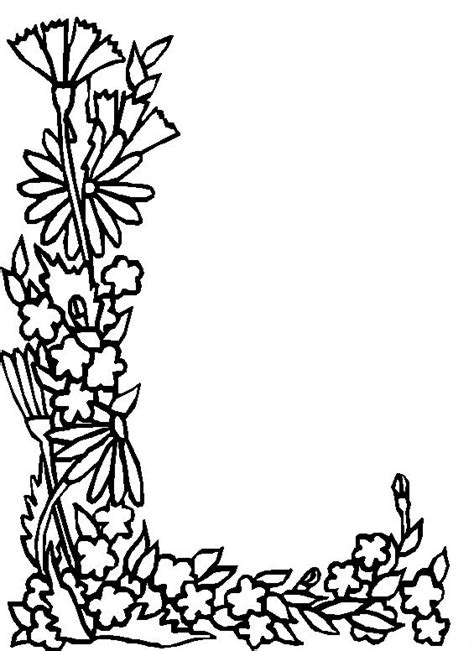 alphabet coloring pages with flowers coloring page alphabet flower l coloring me