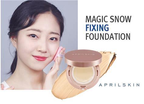April Skin Magic Snow Fixing Foundation Cushion 22 Pink Beige april skin magic snow fixing foundation cushion spf30 pa 15g mesh type ebay