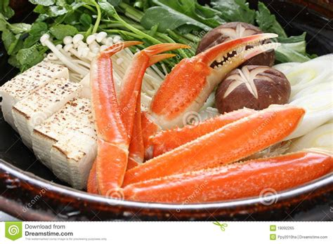 steamboat dish crab nabemono japanese steamboat dish royalty free stock