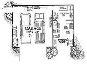 Free Garage Plans And Designs Woodshop Amp Garage Combo Hwbdo08032 House Plan From