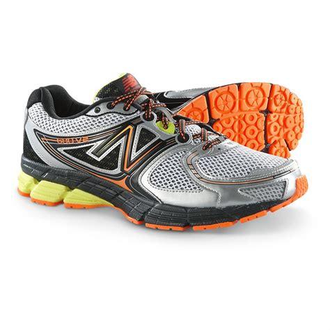 New Balance Black And Orance new balance 680v2 running shoes white black orange