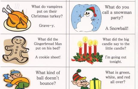 christmas jokes for kids printable christmas decore