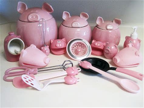 pig kitchen canisters workout then cook my piggy obsession