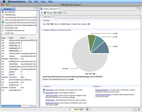 eclipse memory analyzer screenshots