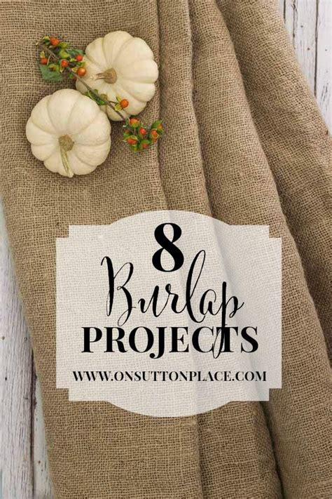 burlap crafts projects 8 diy burlap projects anyone can do on sutton place
