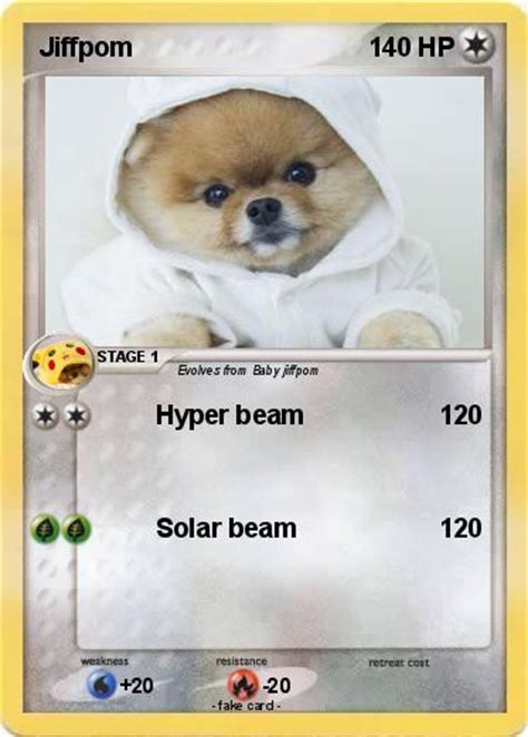 what type of is jiffpom pok 233 mon jiffpom 1 1 hyper beam my card