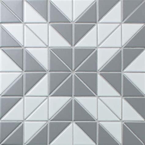 pattern white tiles 2 matte triangle gray white triangle tile porcelain