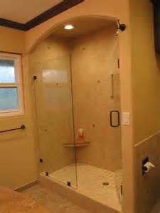 Traditional Shower Bath Arched Shower Tile Traditional Bathroom San Diego