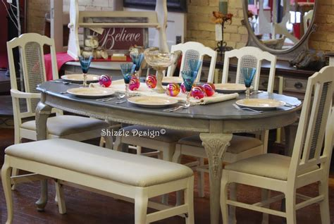 shizzle design antique french dining room set  ascp