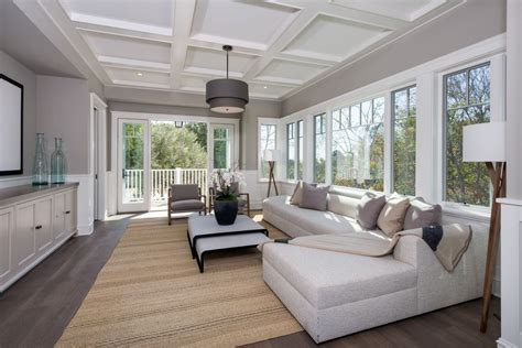Home Designer Pro Ceiling Height by Living Room With Built In Bookshelf Amp Box Ceiling In Los