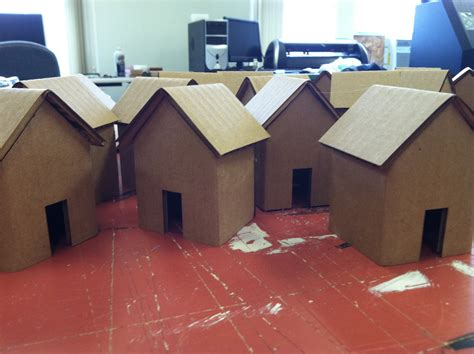 build a 3d house laser cut folded cardboard houses imrc