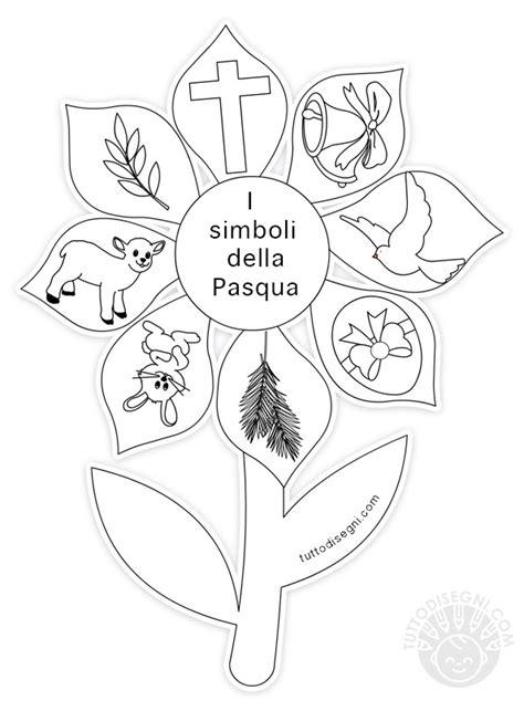 simboli dei fiori fiore con simboli di pasqua da colorare tuttodisegni