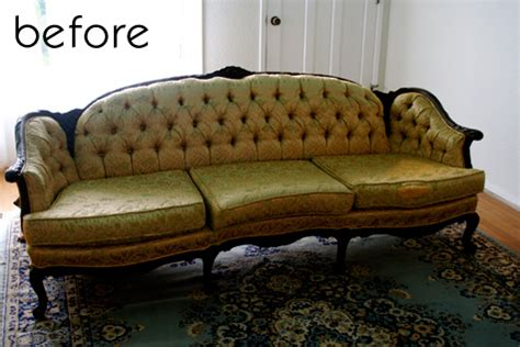 Before After Faux Leather Sofa Caign Dresser Repaint Leather Sofa