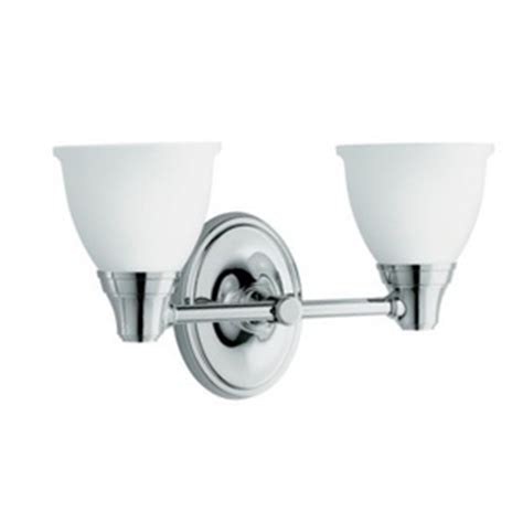 kohler bathroom lighting k11366 cp forte 2 bulb bathroom lighting polished chrome