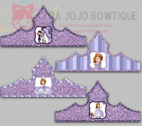 sofia the crown template princess paper crown