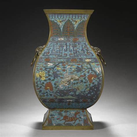 a cloisonn 233 enamel vase fanghu ming dynasty 17th