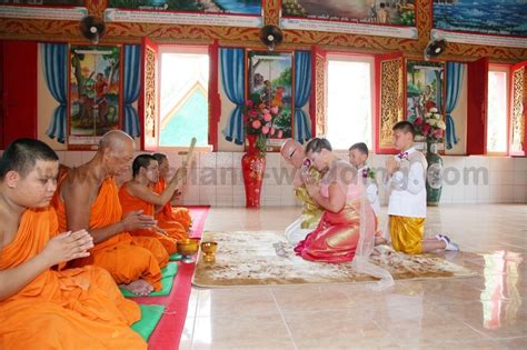 Wedding Blessing Thailand by Phuket Buddhist Blessing Ceremony Package Jan Darren