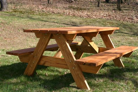 wooden outdoor table with bench seats patio picnic bench table set elegant diy solid wood picnic