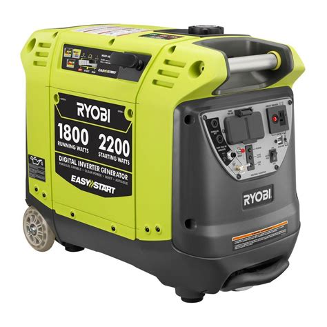 ryobi 2 200 watt green gasoline powered digital inverter
