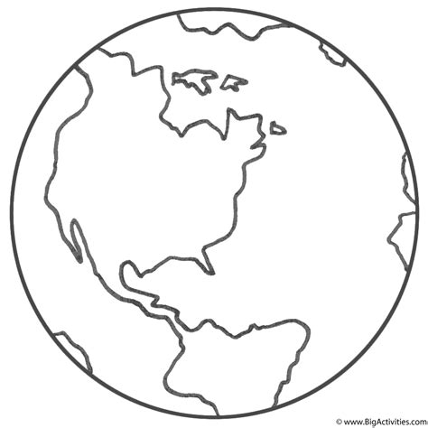 planet earth with title coloring page earth day