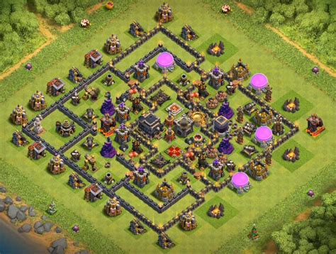 layout coc th9 top 12 best th9 trophy base 2018 new update anti