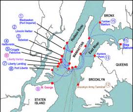 New York Ferry Map by Jersey City Online Ferry Information From Jersey City