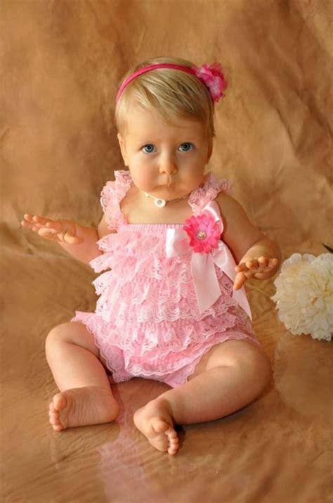 Promo Romper Lace Posh Petti Ruffle Pink Leopard two baby lace posh petti ruffle rompers hair bow headband s m l ebay