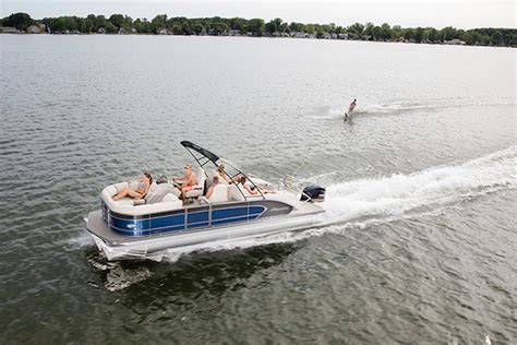 fishing boats you can ski behind can a pontoon boat pull a skier manitou pontoon boats