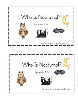 printable nocturnal animal book nocturnal animals emergent reader by climbing the monkey