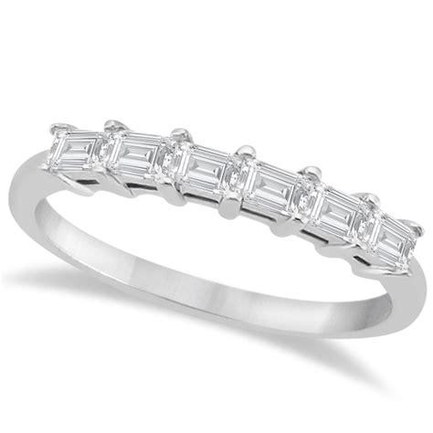 baguette engagement ring wedding band 14k white