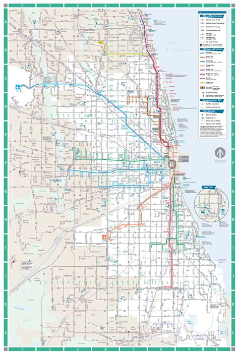 chicago map with transit transit chicago map