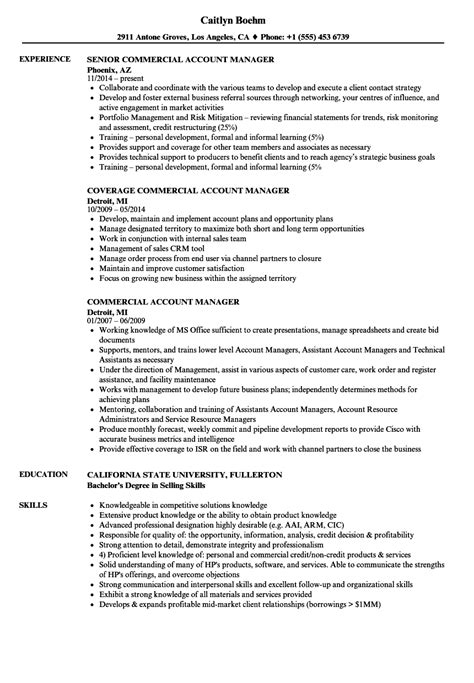 Commercial Account Manager Sle Resume by Commercial Account Manager Resume Sles Velvet