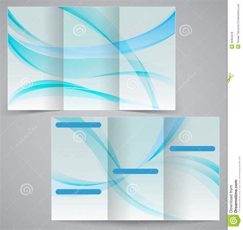 Tri fold Business Brochure Template, Vector Blue D Royalty