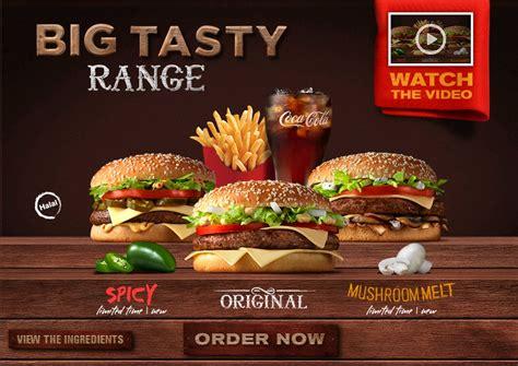 bid tasty mcdonald s arabia big tasty range melt spicy