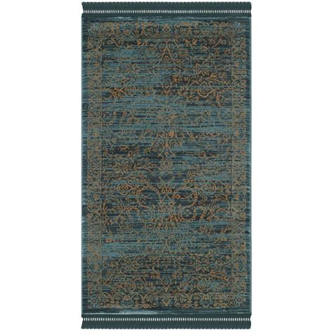 serenity rug safavieh serenity turquoise gold 3 ft 3 in x 5 ft 3 in area rug ser214c 3 the home depot