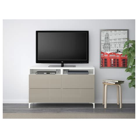 gloss tv bench best 197 tv bench with drawers white selsviken high gloss