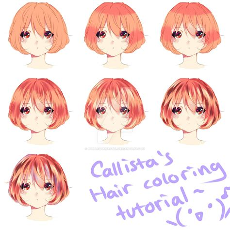 how to color anime hair coloring tutorial d by bubblegumpastel on deviantart