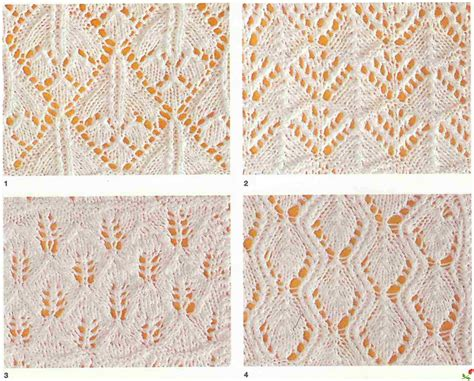 lace pattern name lace and leaves 4 free knitting stitches knitting kingdom