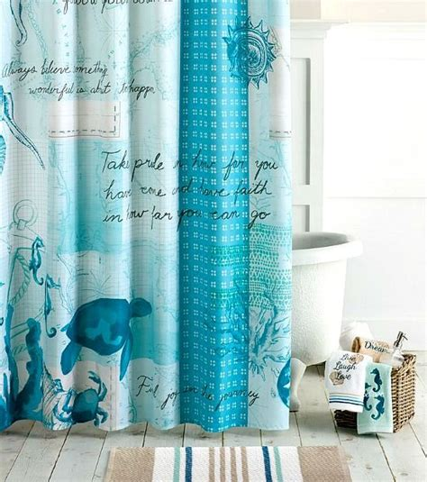 Sea Themed Curtains Decor Decor Shower Curtains To Create An Instant Spa Feeling Coral Walls Beaches And